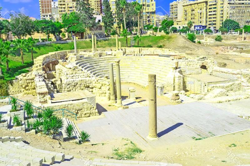 Anfiteatro romano de Alejandria que debemos ver