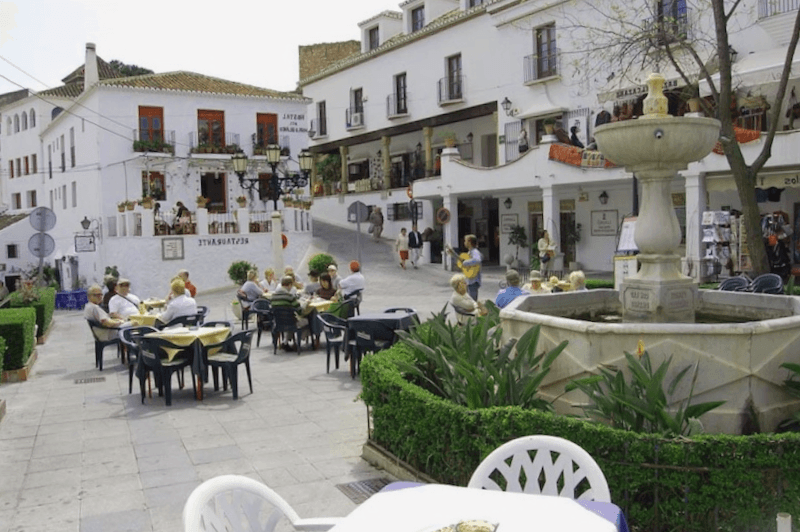 Visitar España y maravillarse de Centro de la ciudad de Mijas
