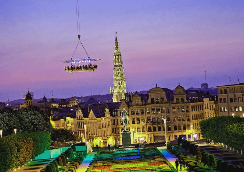 Conocer Belgica y maravillarse de Dinner in the Sky