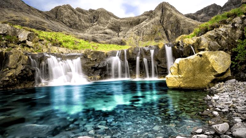Ver Escocia y maravillarse de Fairy Pools