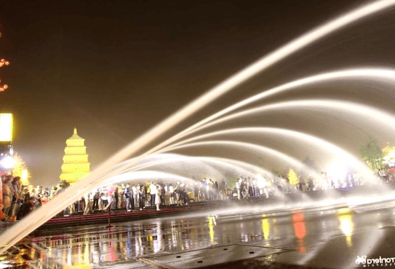 Conocer China y maravillarse de Fuente musical de Xi ian