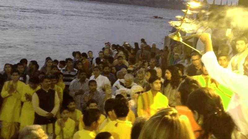 Conocer India y descubrir de Ganga Aarti Rishikesh