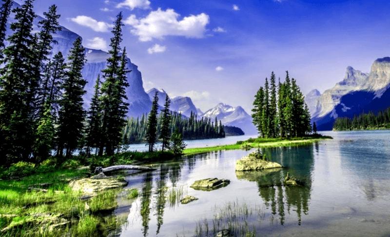 Ver Canada y maravillarse de Maligne Lake