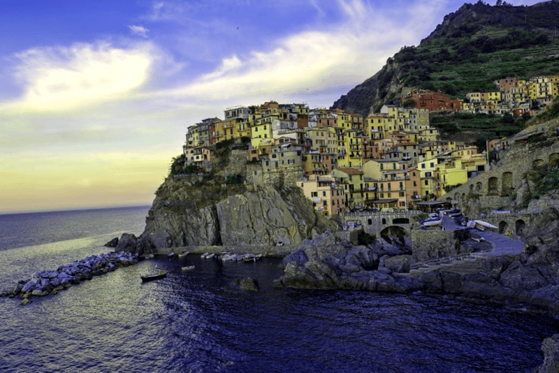 Visitar Italia y maravillarse de Manarola