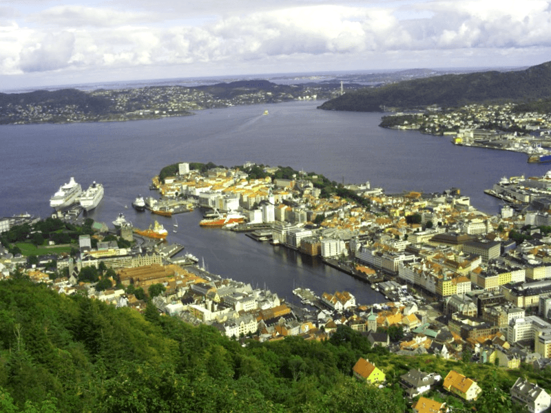 Ver Noruega y maravillarse de Panoramica de Bergen