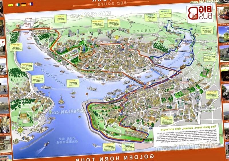 Que visitar en Plano turistico de Estambul