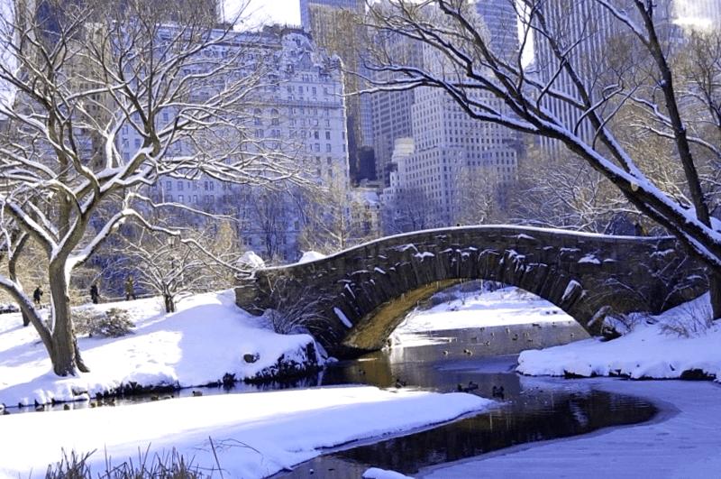 Que visitar en Puente de Gapstow nevado