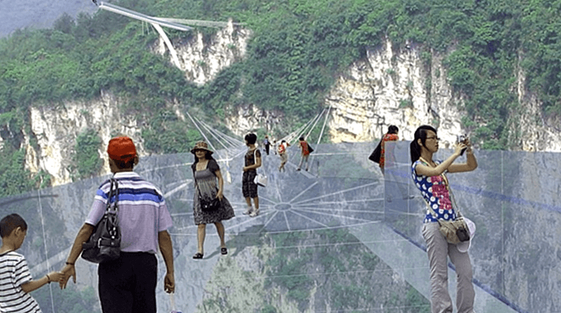 Puente de crisital que descubrir