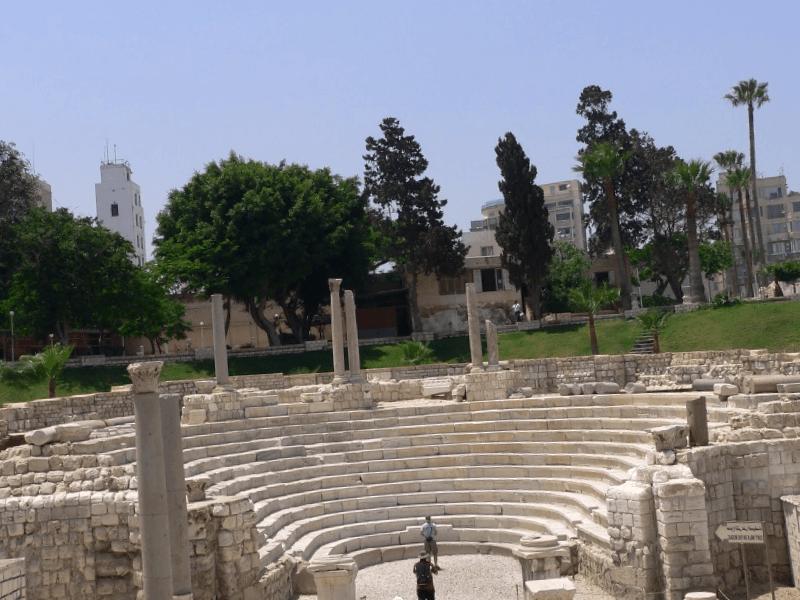 Anfiteatro romano de Alejandria que descubrir