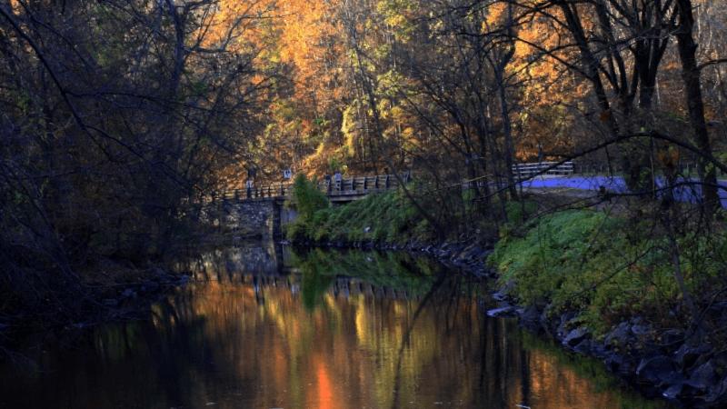 Visitar Estados unidos y descubrir de Atardecer en Rock Creek Park