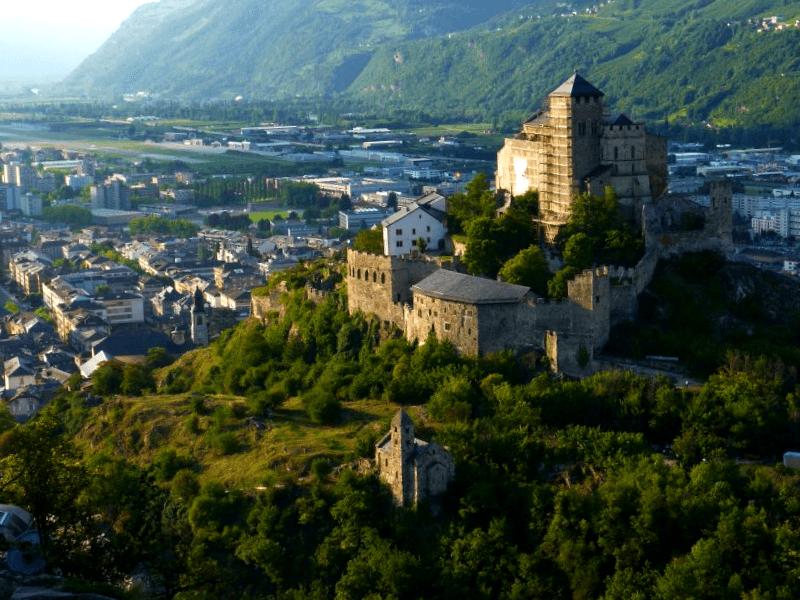 Ver Suiza y descubrir de Castillo de Valere