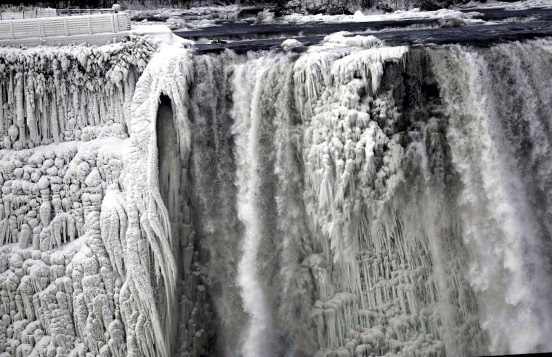 Visitar Canada y descubrir de Cataratas del Niagara congeladas