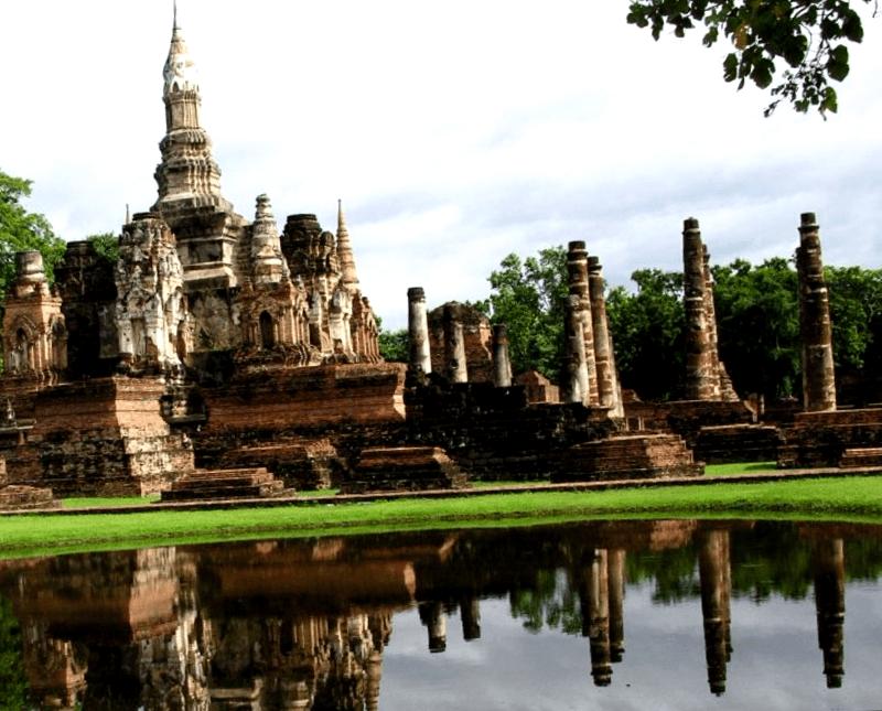 Visitar Tailandia y maravillarse de Ciudad historica de Sukhotai
