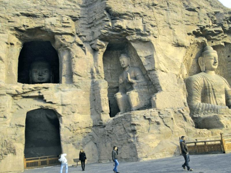 Ver China y maravillarse de Cuevas de Yungang