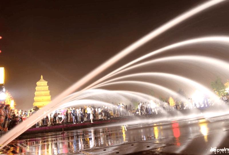 Visitar China y maravillarse de Fuente musical de Xi ian
