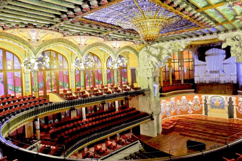 Ver España y descubrir de Interior del Palau de la Musica Catalana