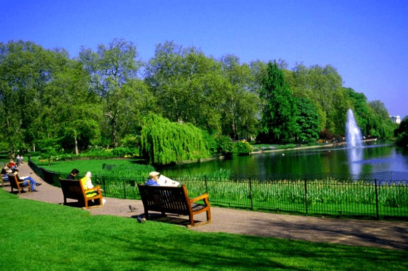 Lago en St. James Park que ver