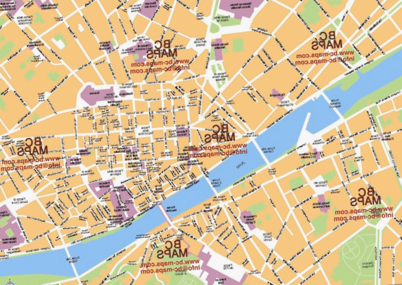 Mapa turistico de Florencia que debemos ver