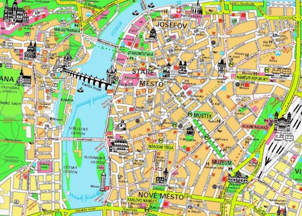 Que ver en Mapa turistico del centro de Praga