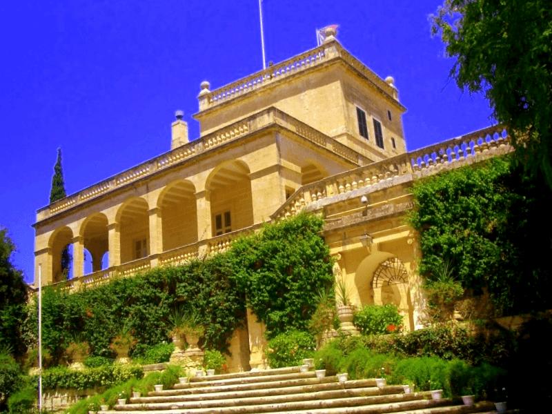 Visitar Malta y maravillarse de Palacio de San Anton