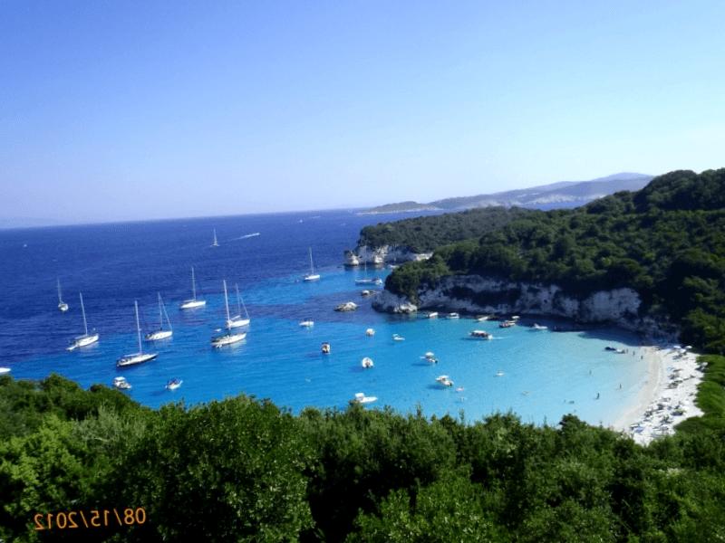 Playa de Voutumi, Antipaxos que visitar
