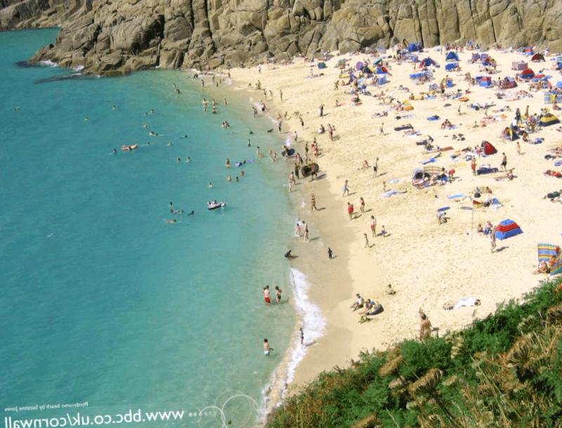 Conocer Inglaterra y descubrir de Porthcurno Beach