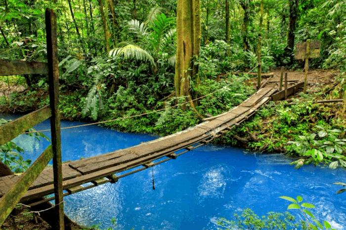 Conocer Puente sobre Rio Celeste