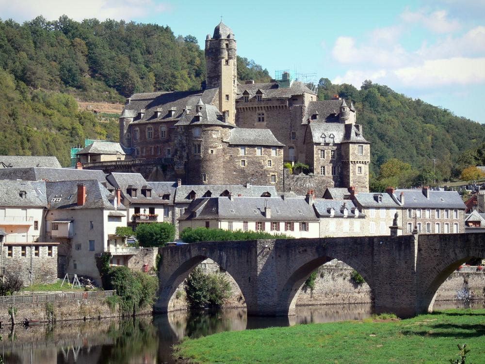 Vista del Castillo de Estaing que visitar