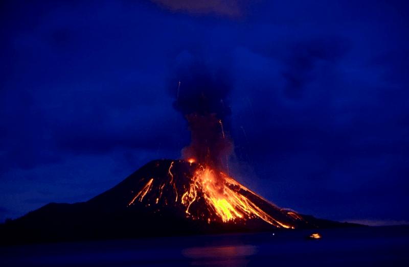 Volcan Krakatua que ver